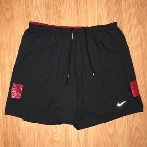 Men Red and Black Nike Shorts